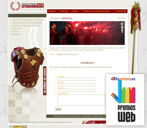 Web ganadora premios laverdad.es 2008