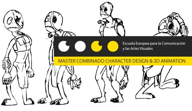 Master combinado Diseño de Personajes y Animación 3D